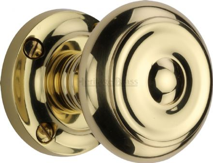 M Marcus Heritage Brass V872-PB Aylesbury Mortice Knob On Rose Polished Brass
